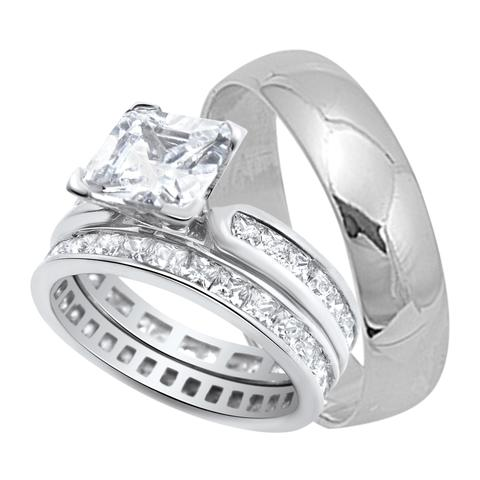 His And Hers Wedding Ring Sets Cheap