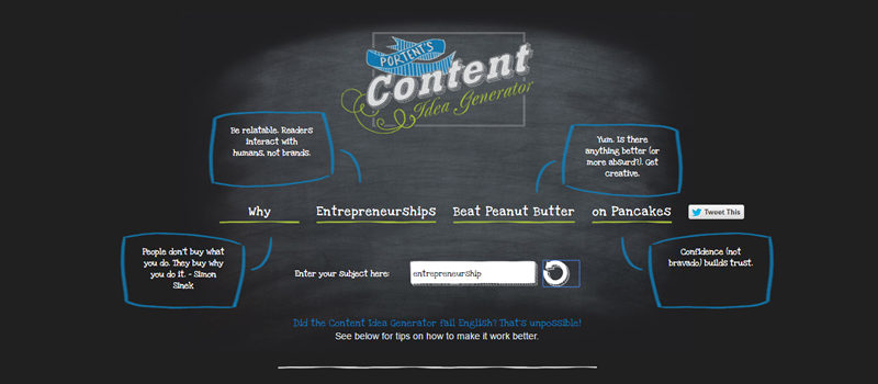 7 best post title generators you will ever need to create for Portent idea generator