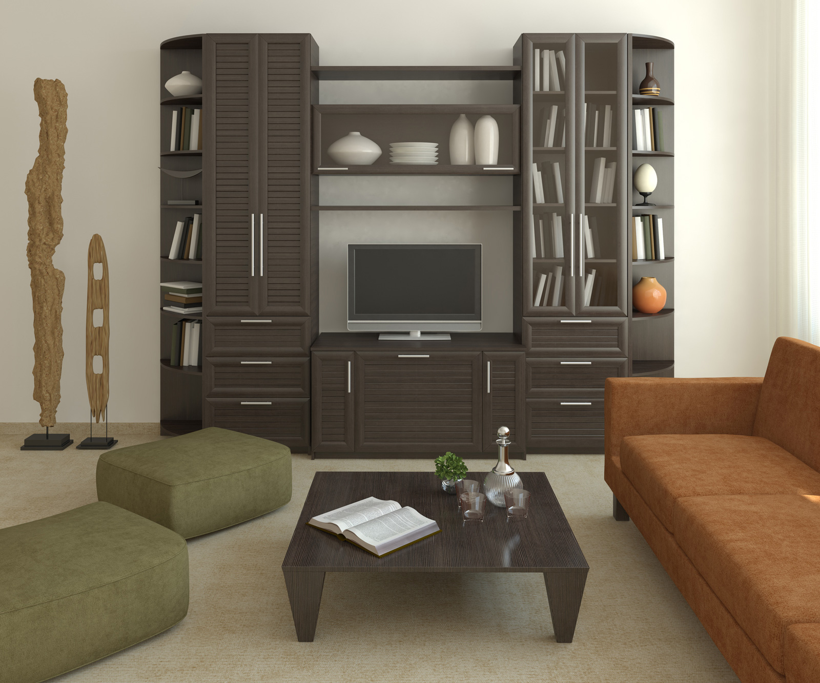 Modern Furniture: Modern Living Room Cabinets Designs
