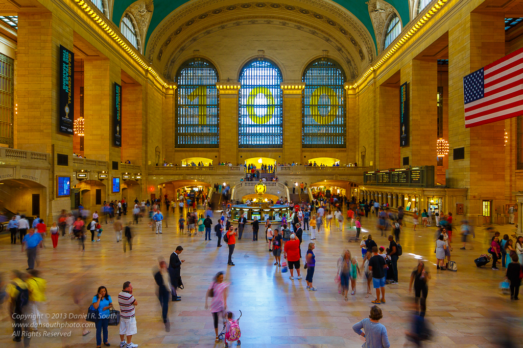 a photo of Grand Central Station in New York City showing Motion