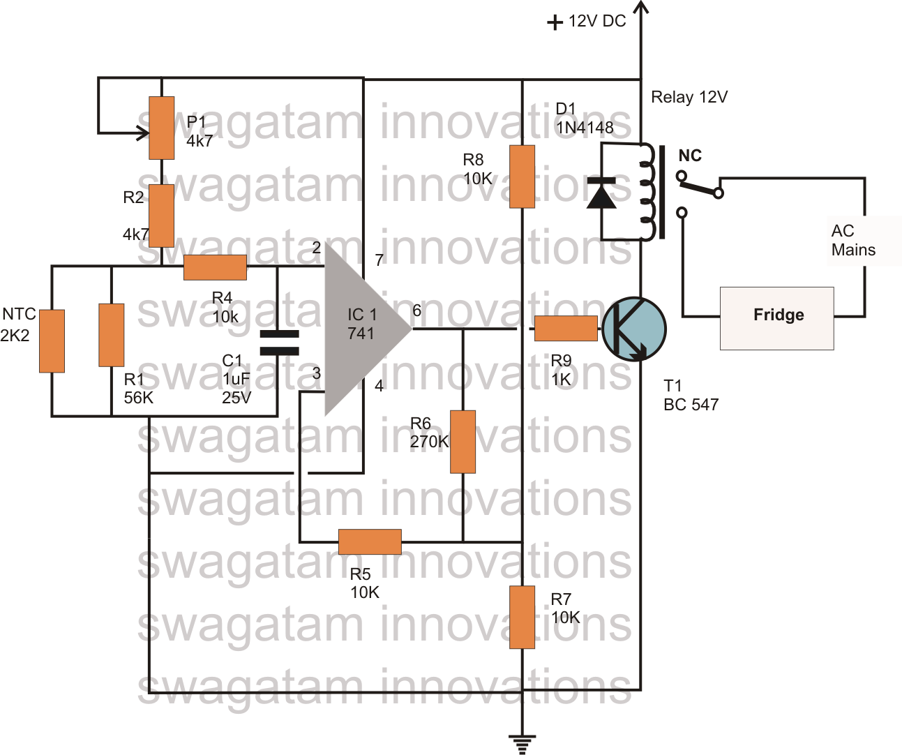 Digital Temperature Controller Wiring Diagram Ls1 Alternator How To Make An Automatic Refrigerator