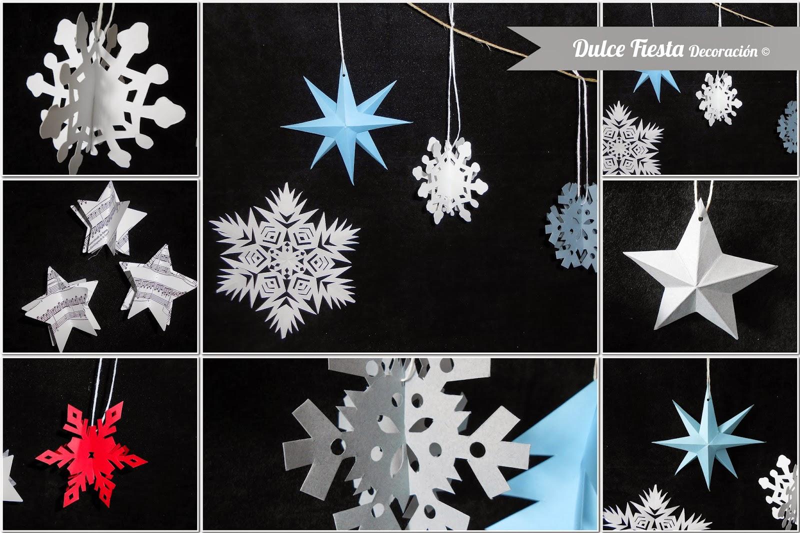 Dise o y decoraci n personalizada para eventos siete - Adornos navidenos de papel ...