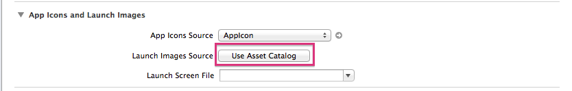 Click on Use Assets Catalog.