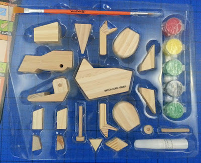 Children's wooden dinosaur craft kit review