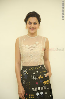 Taapsee Pannu in transparent top at Anando hma theatrical trailer launch ~  Exclusive