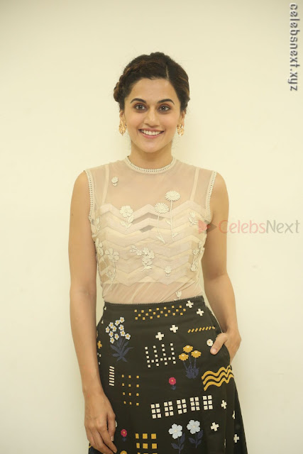 Taapsee Pannu in transparent top at Anando hma theatrical trailer launch ~  Exclusive 001.JPG