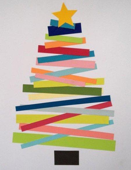 Árvore de papel colorida para o natal - DIY Faça você mesmo