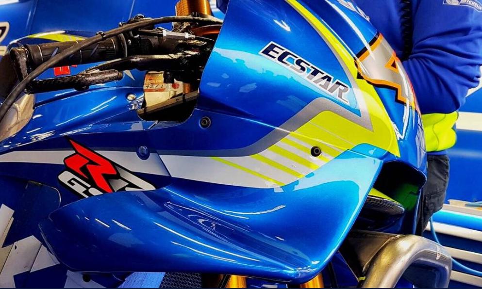 Photo Gallery : Desain baru Aero fairing tim pabrikan Suzuki ECSTAR MotoGP Motegi Jepang 2017