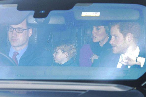 Prince William, Duchess Catherine of Cambridge, Prince Harry, Prince George, Princess Beatrice, Princess Eugenie, Mike Tindall and Zara Phillips
