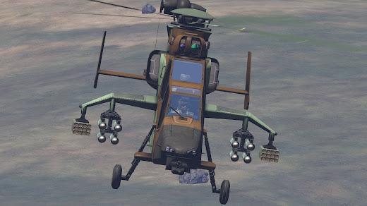 Arma3用スペイン軍MODのTiger攻撃ヘリ