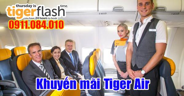 Bán vé khuyến mãi mua chiều đi miễn phí chiều về hãng Tiger Air