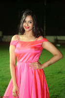 Actress Pujita Ponnada in beautiful red dress at Darshakudu music launch ~ Celebrities Galleries 030.JPG