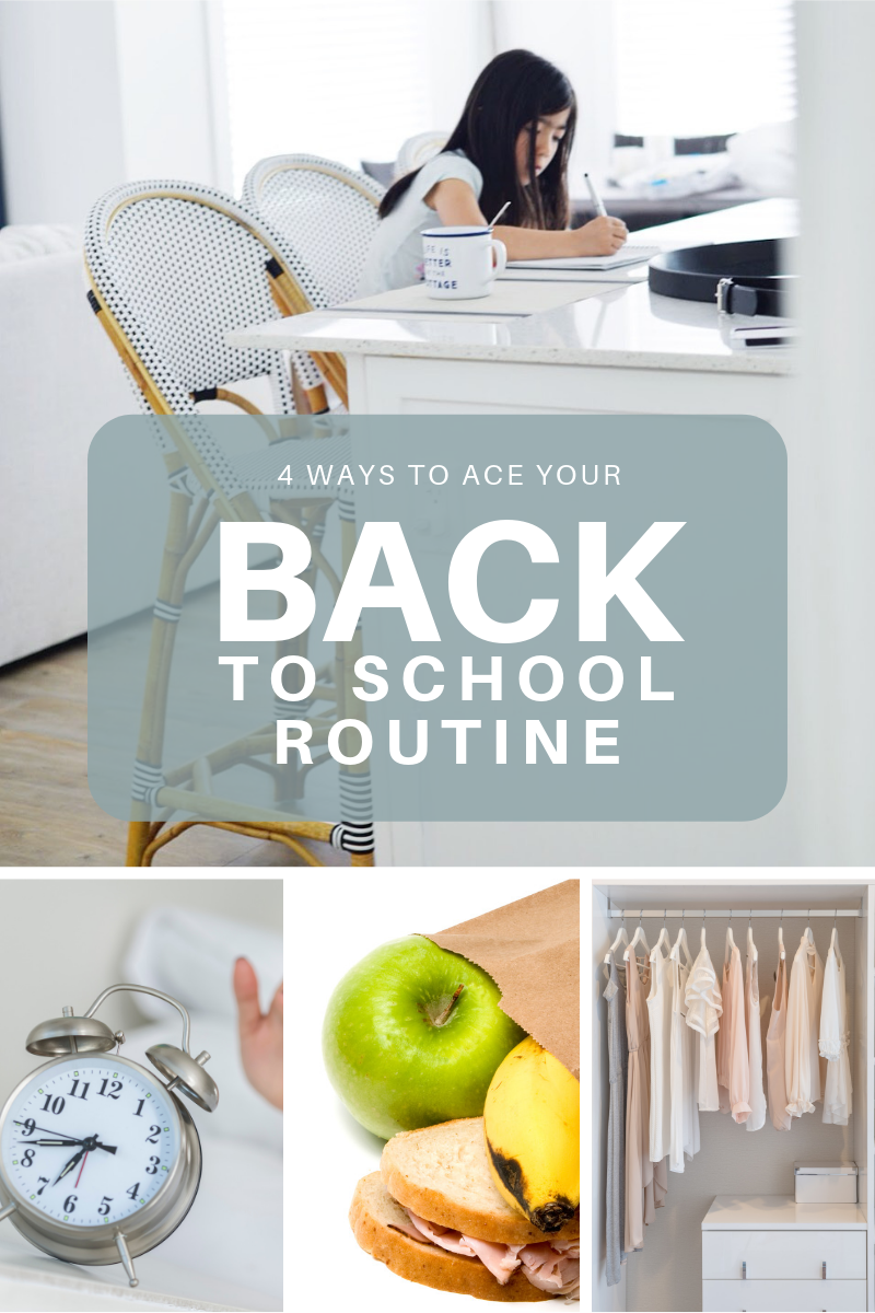 tips for back to school routine, middle school tips, morning checklist