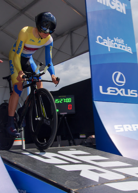 yellow skinsuit for the time trial stage ATOC