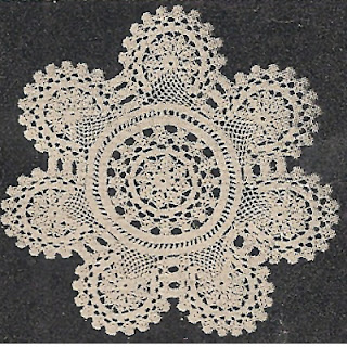 Round Medallion Scallop Crochet Doily Pattern