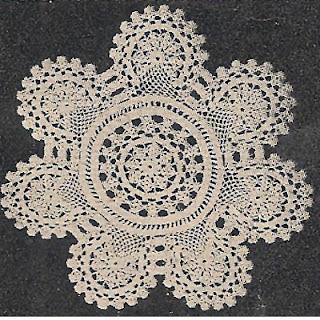 Round Medallion Scallop Crochet Doily Pattern