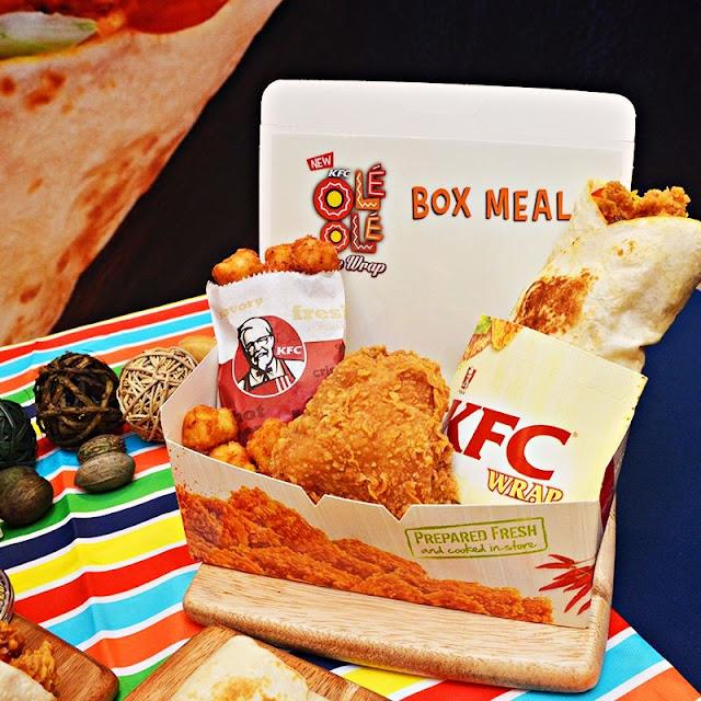 KFC Ole' Ole' Rice Wrap Box Meal RM 12.90