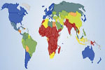 Mapa del índice de desarrollo humano (IDH) en el mundo