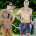 Real Madrid footballer James Rodriguez and beautiful wife Daniella enjoy game of beach volleyball in Miami - See HOT pictures