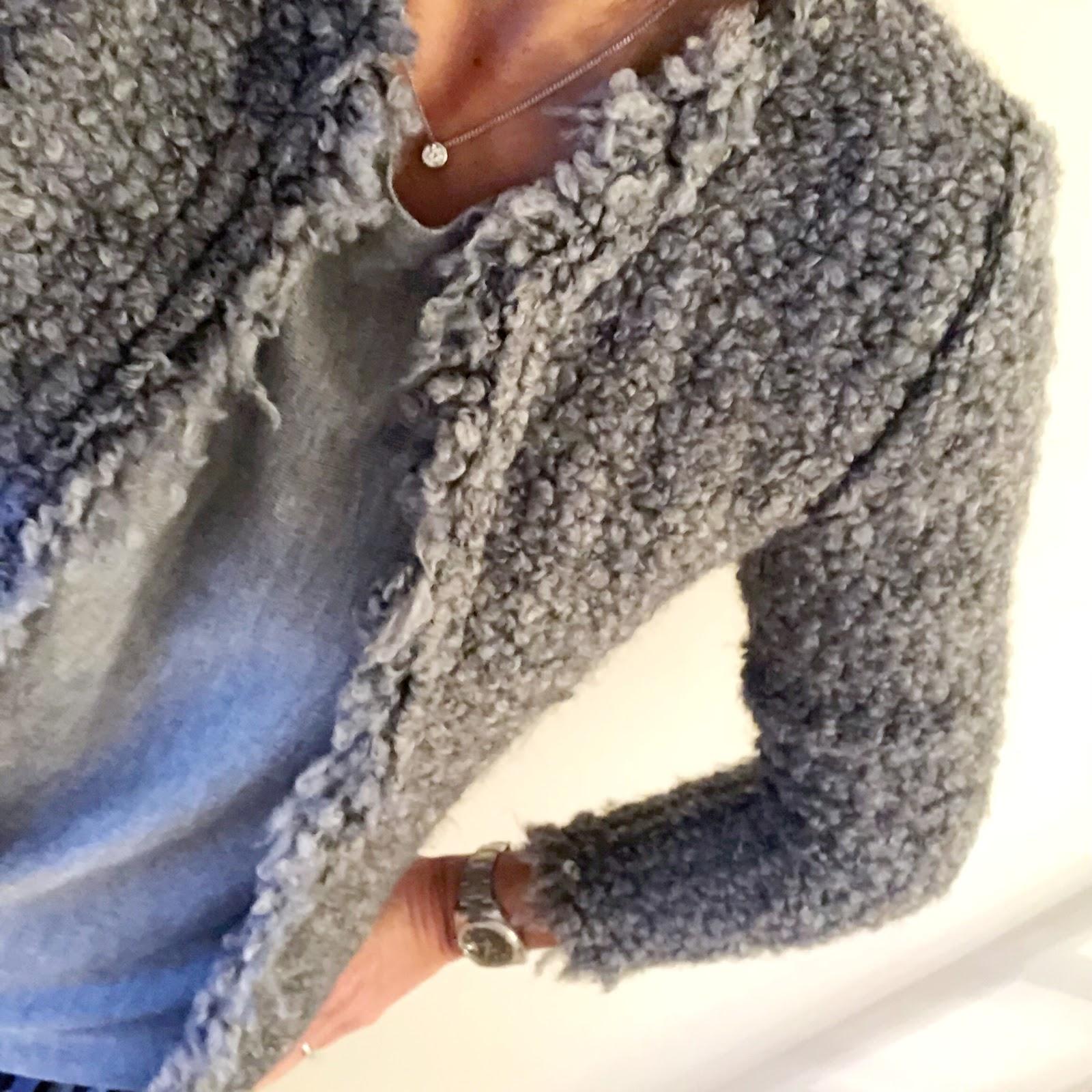 my midlife fashion, iro paris knitted boucle jacket, baukjen chloe knit, asos camoflage satin pleated maxi skirt, zara kitten heel ankle boots