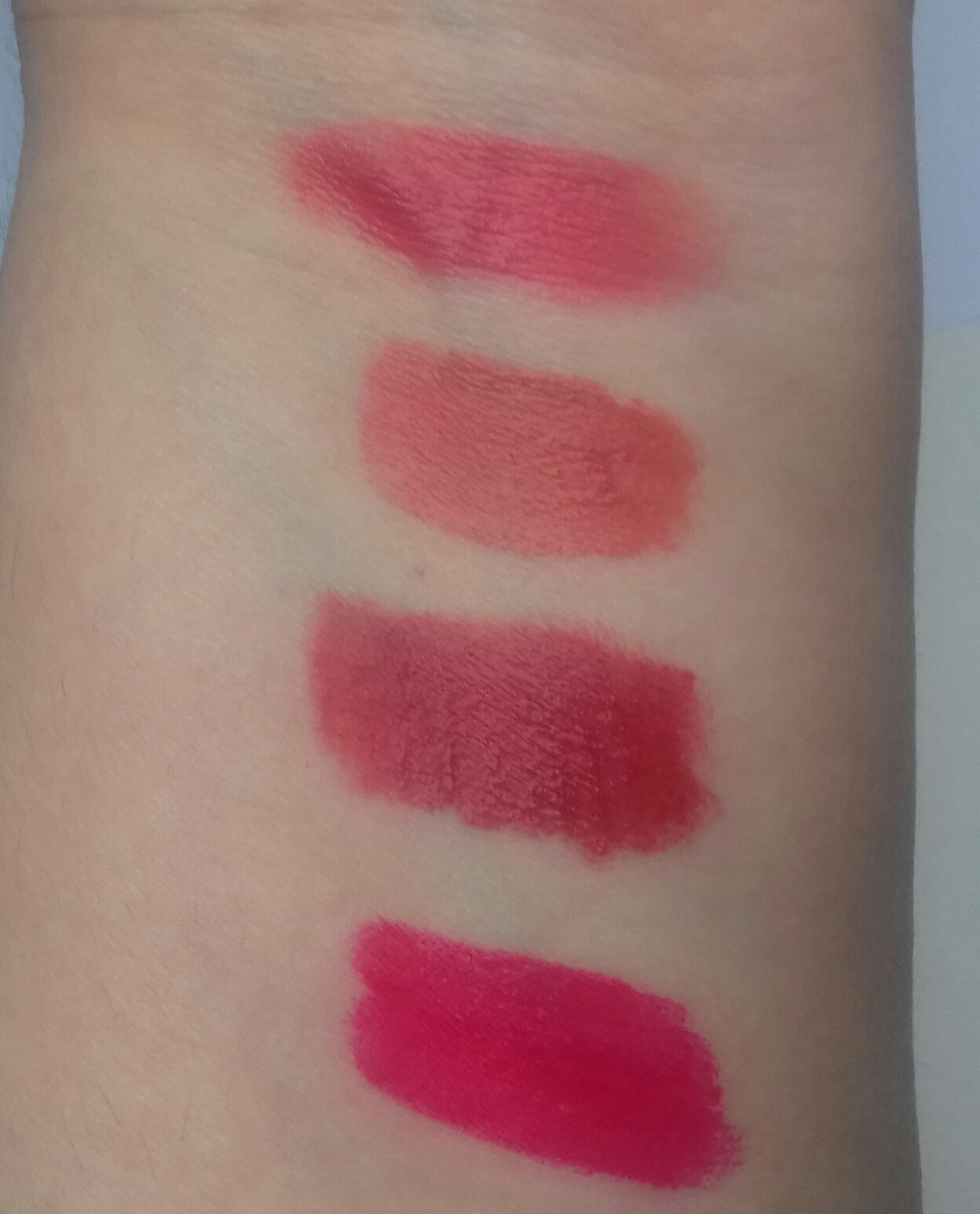 6celeb Deep Rose Peripera Peris Ink Velvet Best Buy Indonesia Airy 8g Original Swatches From Top To Bottom Of In No5 Elf Light