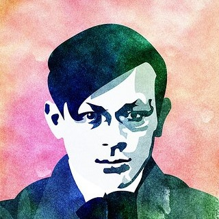 TRISTAN TZARA.HIS FACE WAS SIMILAR WITH PICASSOS FACE