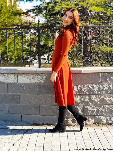 kahverengi abiye elbiseler
