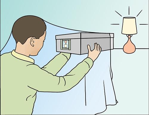 Pinhole Camera Bed Sheet