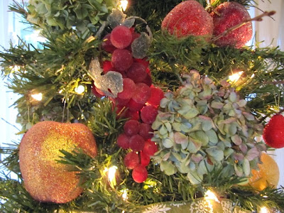 sugared fruit hydrangea Christmas tree