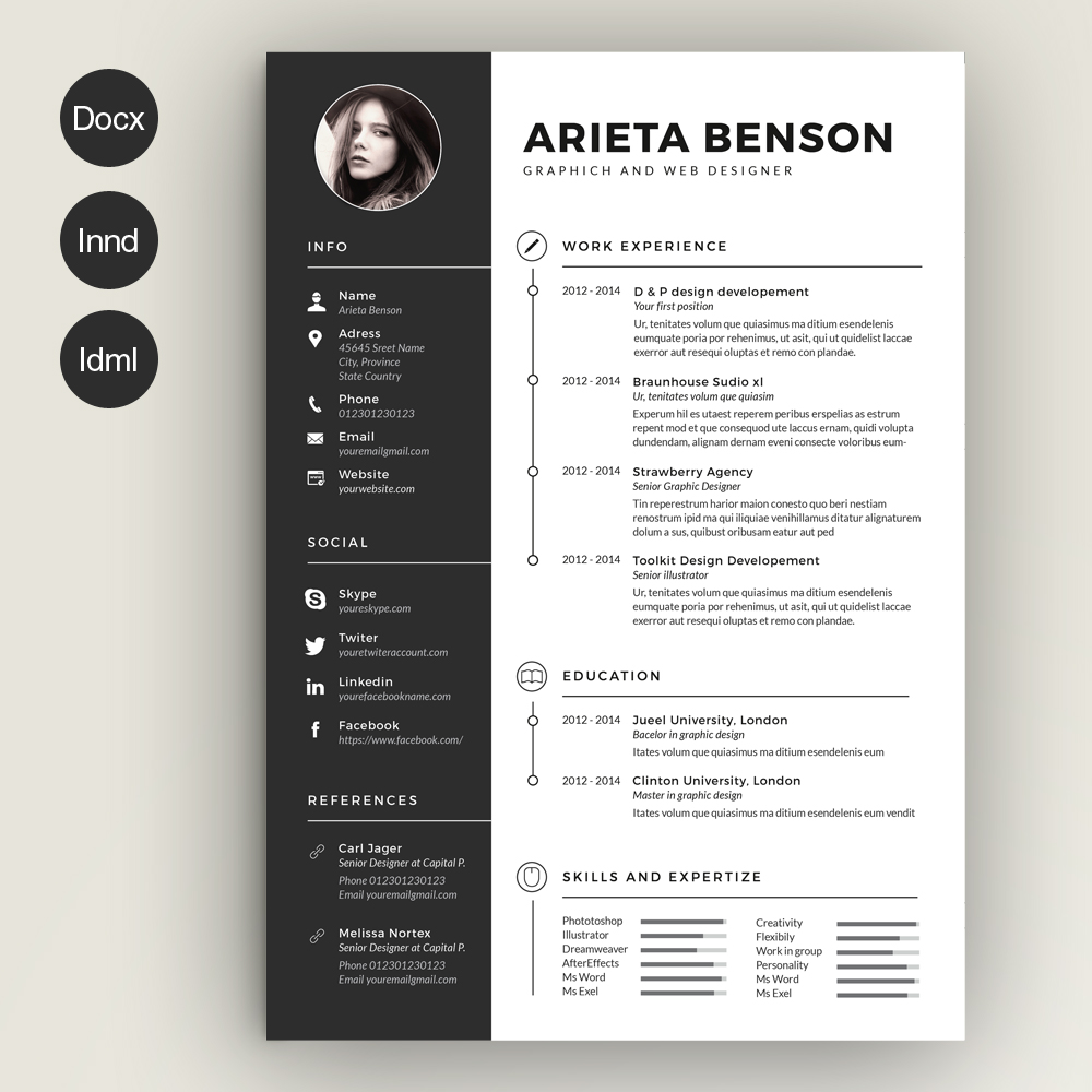 free resume templates can help you in designing the best profile