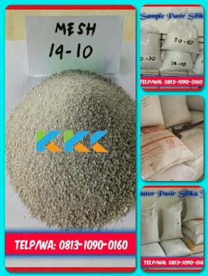 Pasir Silika Bangka Mesh 14-10 Kemasan 50 Kg