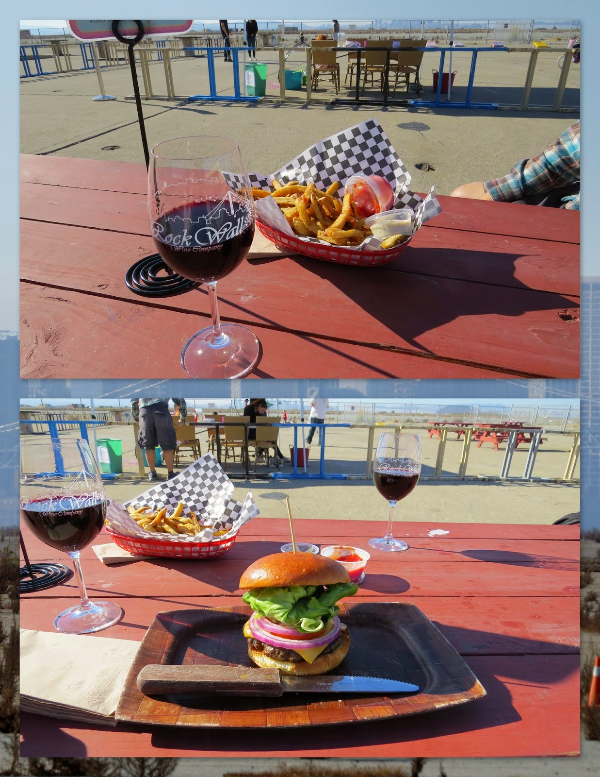 Hamburgers and Wine at Rock Wall Winery