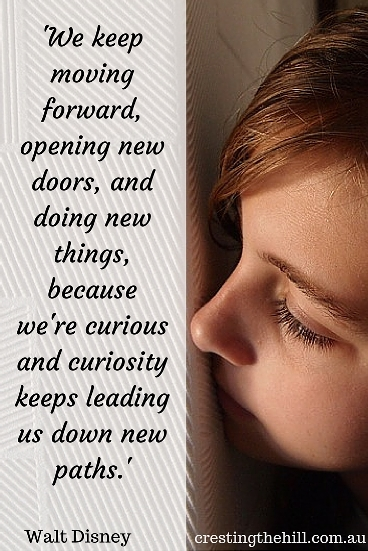 'We keep moving forward, opening new doors, and doing new things, because we're curious and curiosity keeps leading us down new paths.' Walt Disney #quotes