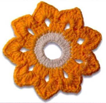 Patrón #1622: Flor a Ganchillo