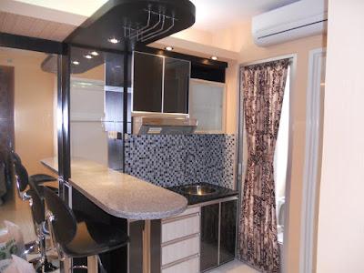Interior Kitchen Set Minimalis Modern Untuk Apartemen Studio