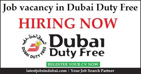 Job vacancy in Dubai Duty Free