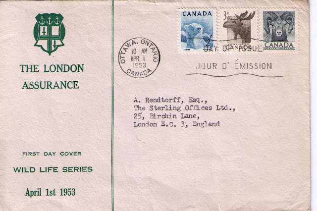 Postal History Corner 1953 1957 Canada Wildlife Series First Day Covers