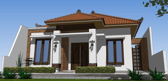 contoh rumah minimalis khas adat Jawa