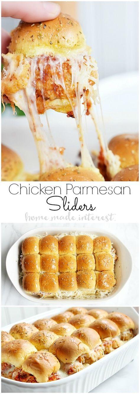 CHICKEN PARMESAN SLIDERS #chicken #lunch