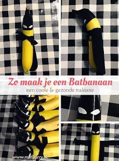 Zo maak je een Batbanaan - een coole en gezonde traktatie