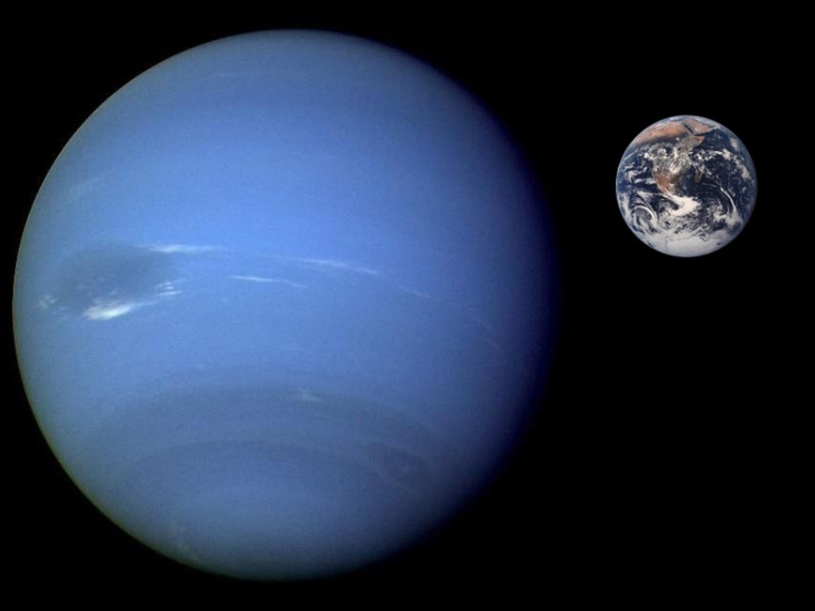 neptune compared to earth