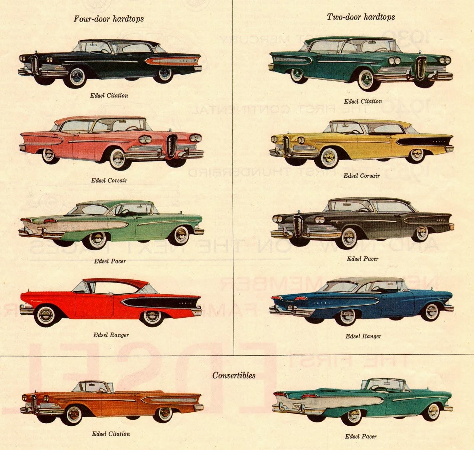 Yesterday Today: Ford Edsel 1958 Car Models: The Wrong Car