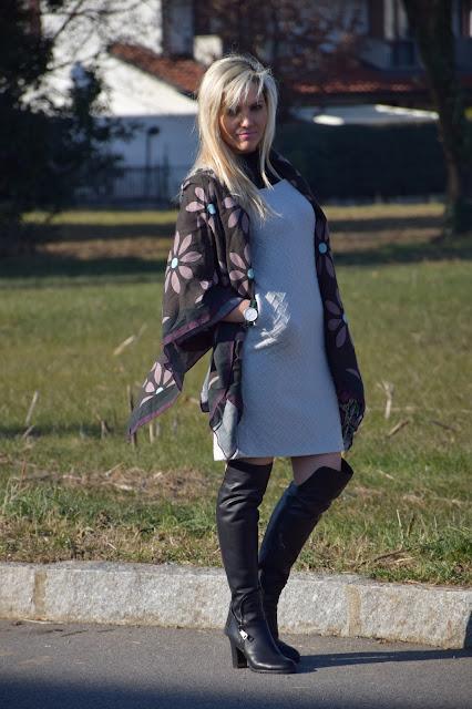 outfit grigio come abbinare il grigio abbinamenti grigio outfit invernale outfit gennaio 2017 mariafelicia magno fashion blogger colorblock by felym fashion blog italiani blog di moda blogger italiane di  moda influencer italiane