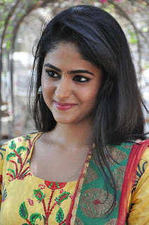 Palak Lalwani looks so cute and smiling in Yellow Salwar Kameez