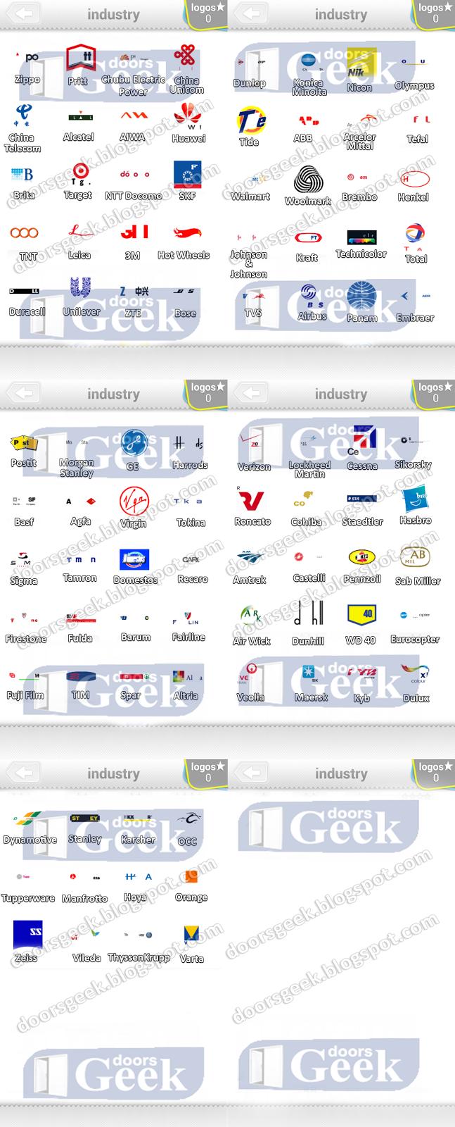 Ultimate Logo Quiz Level 13 - [Industry] ~ Doors Geek  Ultimate Logo Q...