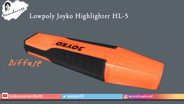 Diffuse Lowpoly Joyko Highlighter HL-5 Nandur93