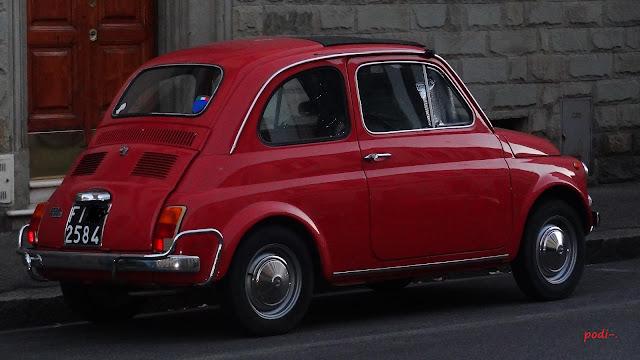 Firenze Fiat 500 rosso