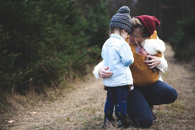 Mother-children-hug