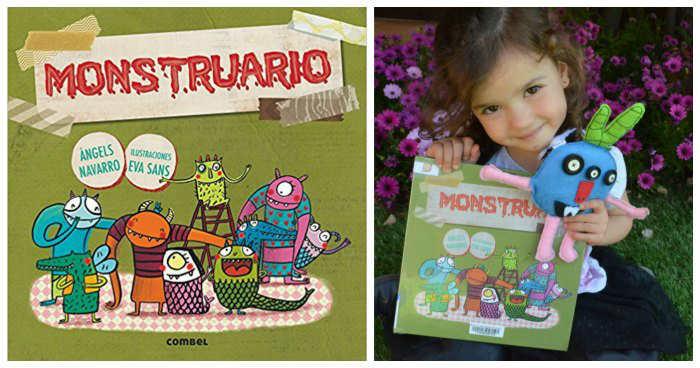 cuentos infantiles libros juego fomentar lectura a partir de jugar monstruario angels navarro