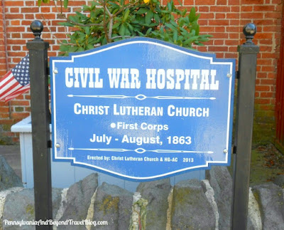Civil War Hospital Historical Marker in Gettysburg Pennsylvania